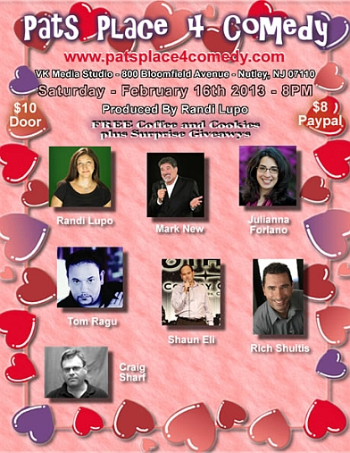 Pats Place 4 Comedy our February 2013 Show
