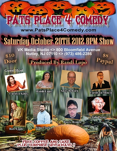 Pats Place October 2012 Poster