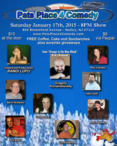 Pats Place 4 Comedy Jan. 2015