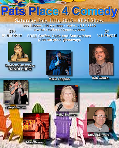 Pats Place Comedy Show July 11, 2015
